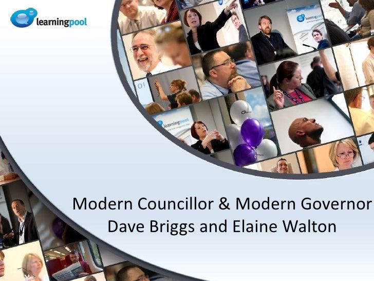 Modern Councillor & Modern GovernorDave Briggs and Elaine Walton<br />