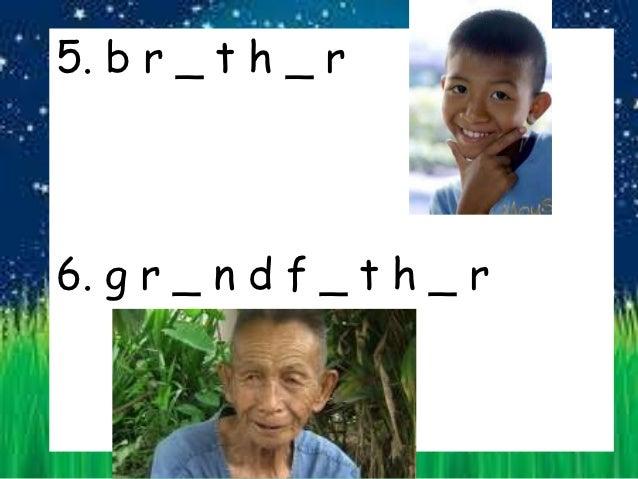 Family Vocabulary for 1st Grade Thai Students Slide 3