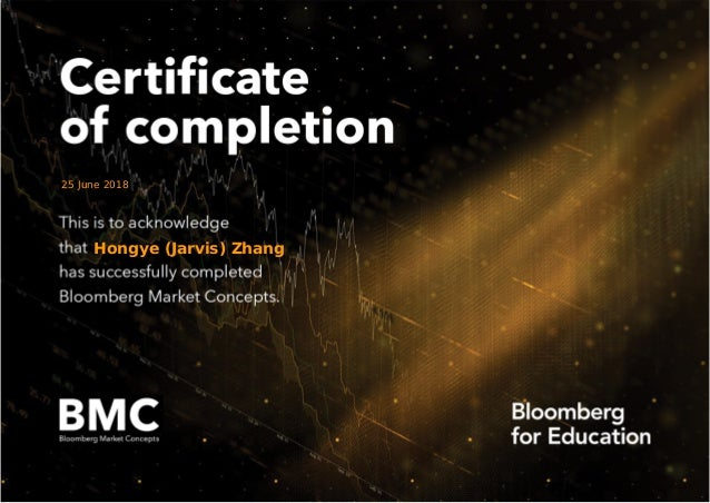 bloomberg certificate market concepts completion slideshare upcoming