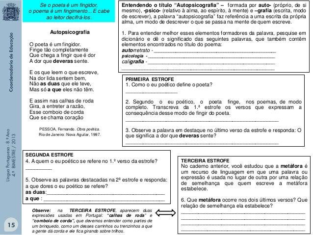 Língua Portuguesa - 8.º Ano 4.º BIMESTRE / 2013  O VENTO Queria transformar o vento. Dar ao vento uma forma concreta e apt...