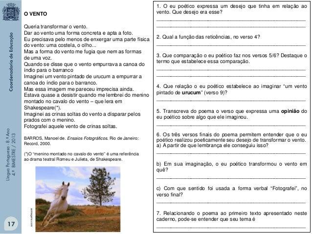 """Língua Portuguesa - 8.º Ano 4.º BIMESTRE / 2013  """"Teatro é uma espécie de fingimento."""" VAMOS AO TEATRO? Maria Clara Machad..."""