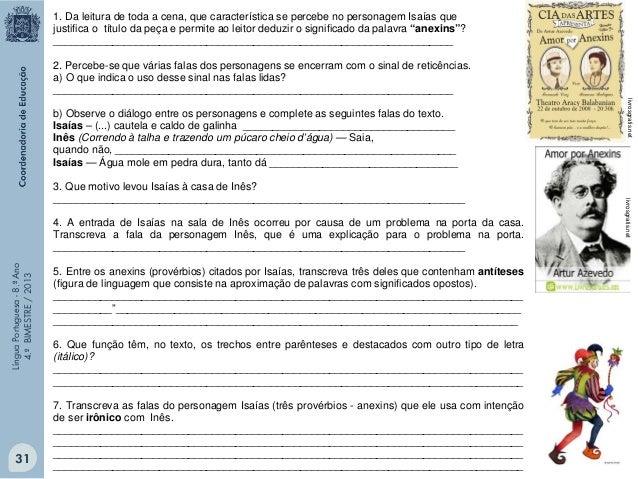 """Você vai ler, a seguir, um trecho do 1º ATO de uma das peças teatrais mais aclamadas no Brasil: """"O pagador de promessas"""", ..."""