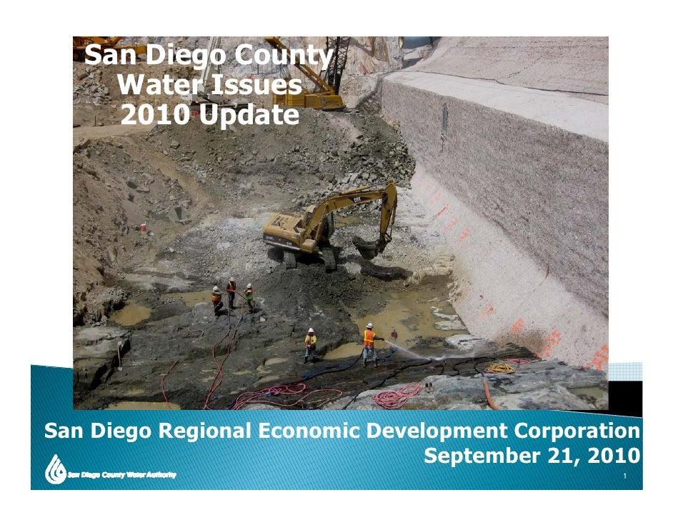 San Diego County      Water Issues      2010 Update     San Di S   Diego R i           Regional Economic Development Corpo...