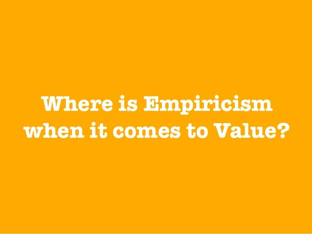 We need to move away from value estimation towards value measurement.