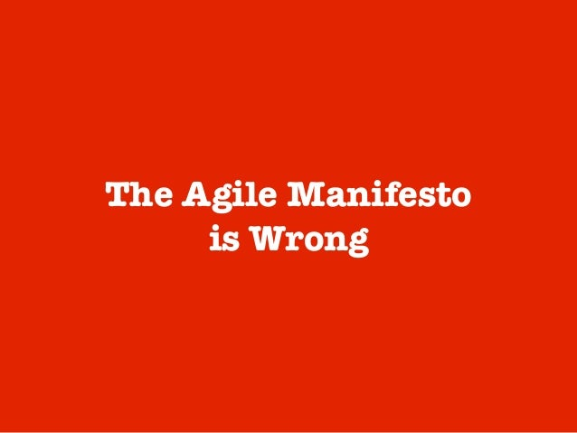 @meetfelipe Agile was created for managing software projects. As such, it is focused on managing deliverables (user storie...