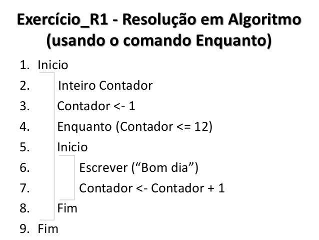 Exercício_R1 - Resolução no C# (usando o comando Enquanto)