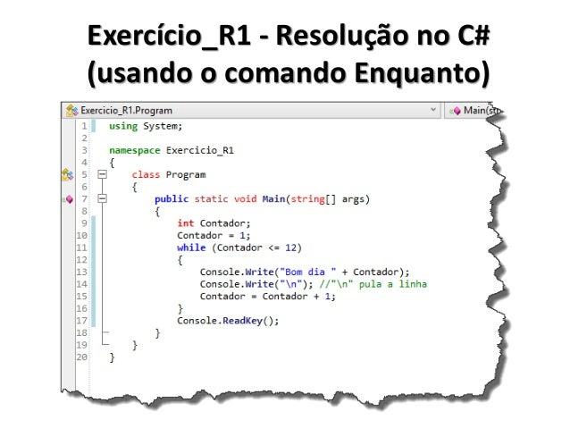 Exercício_R1 - Resolução no Portugol IDE (usando o comando Faça Enquanto)