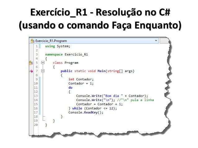 Exercício_R1 - Resolução no Portugol IDE (usando o comando Para)