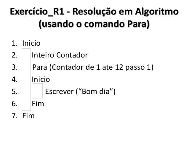 Exercício_R1 - Resolução no C# (usando o comando Para)