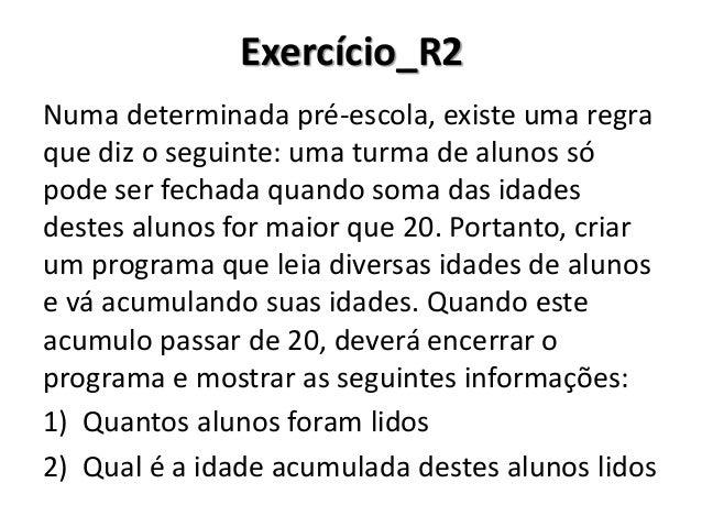Exercício_R2 Resolução no Portugol Studio
