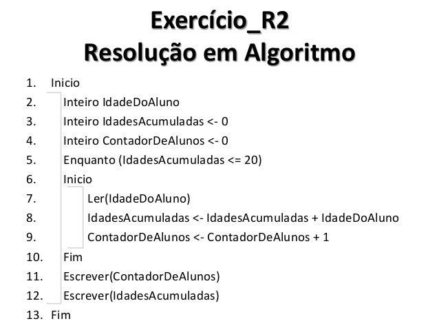 Exercício_R2 Resolução em C#