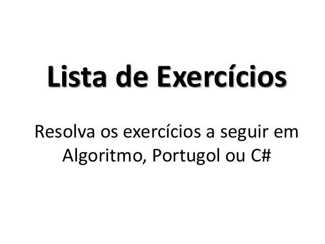 Exercício_R3 Resolução em Portugol IDE