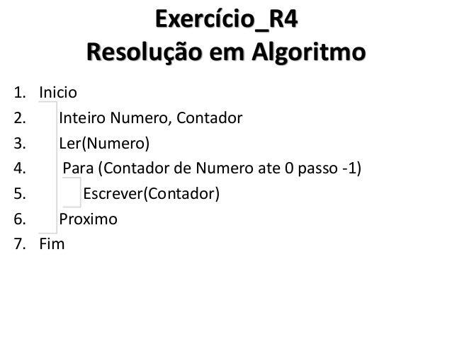 Exercício_R4 Resolução em C#