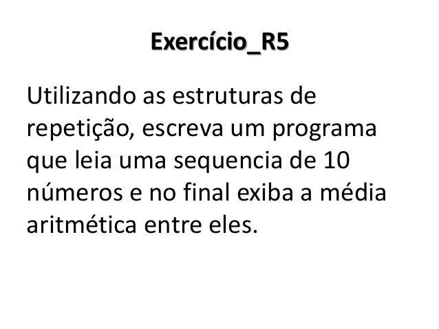 Exercício_R5 Resolução em Portugol Studio