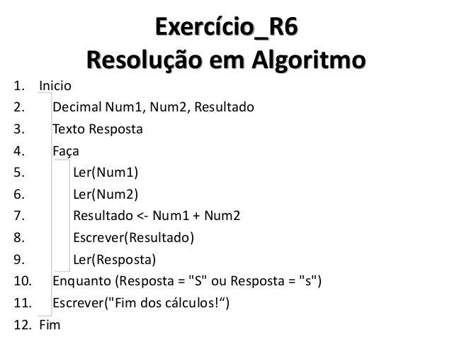 Exercício_R6 Resolução em C#