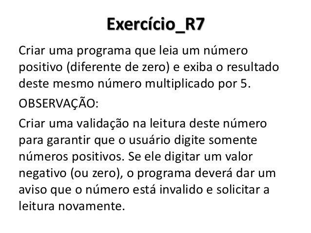Exercício_R7 Resolução em Portugol Studio