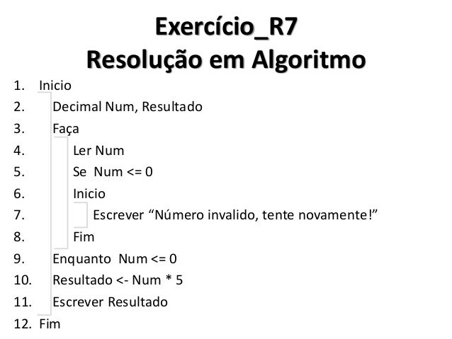 Exercício_R7 Resolução em C#