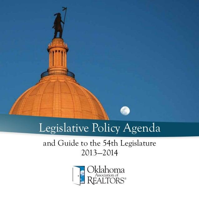 Legislative Policy Agendaand Guide to the 54th Legislature          2013—2014