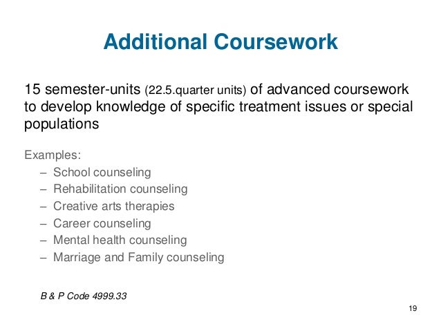 lpc coursework Lpc coursework requirements please note: these descriptions of required course work for professional counselor licensure (lpc) are guidelines only.
