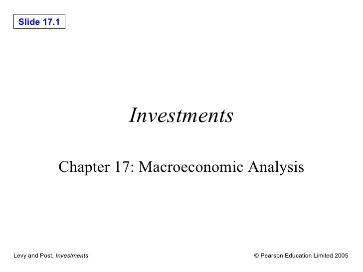 Investments Chapter 17: Macroeconomic Analysis