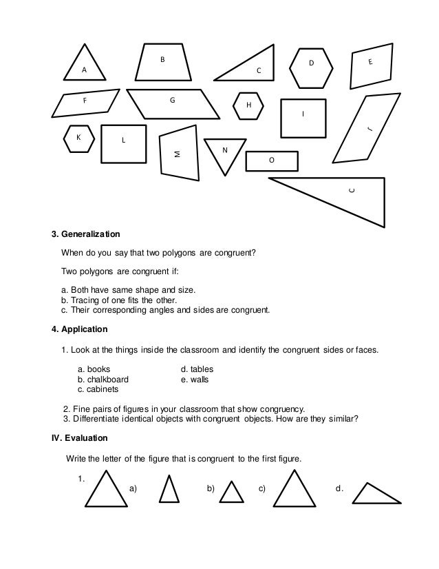 Lp congruent polygons – Congruent Polygons Worksheet