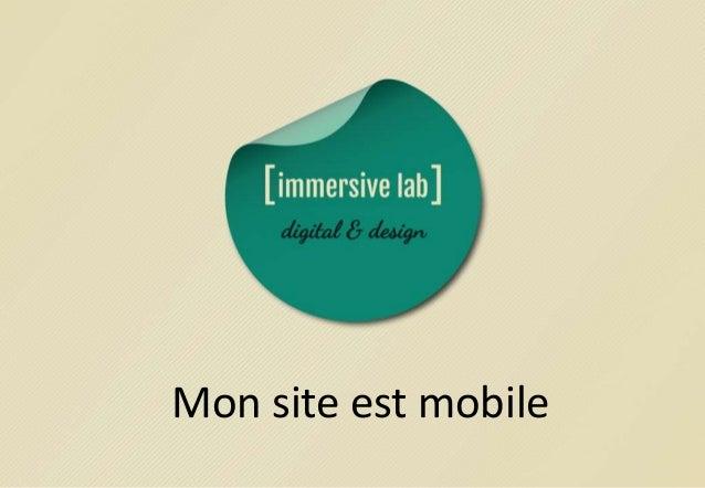 Mon site est mobile