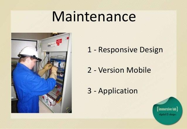 Fonctionnalités 1 - Application 2 - Version Mobile 3 - Responsive Design