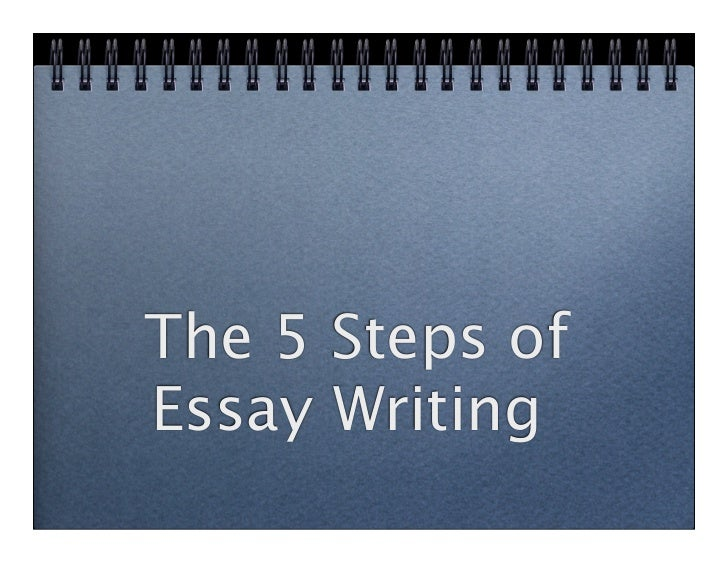 The 5 Steps ofEssay Writing