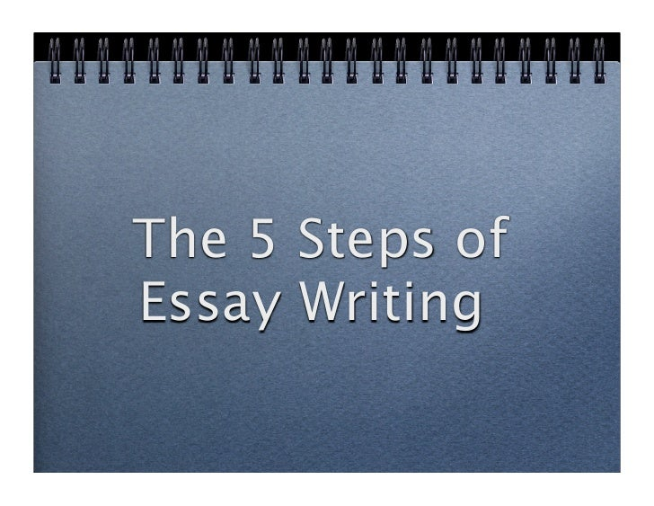 The 5 Steps of Essay Writing