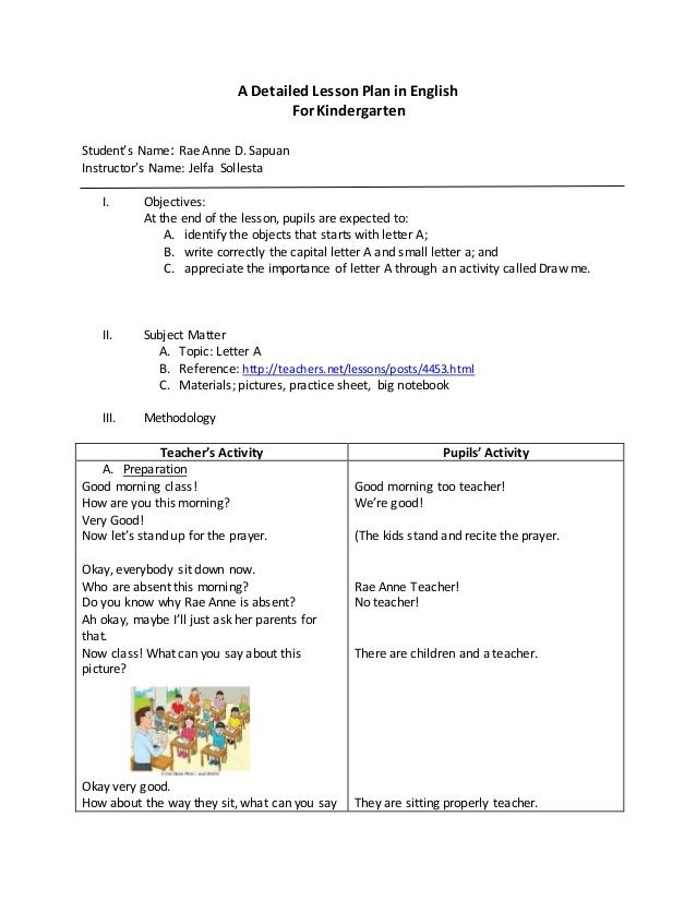 detailed lesson plan in english Describing words: a lesson plan on adjectives lesson plan submit feedback / report problems x show remarks/examples lafs2l35 : demonstrate understanding of word relationships and nuances in word meanings english language arts.