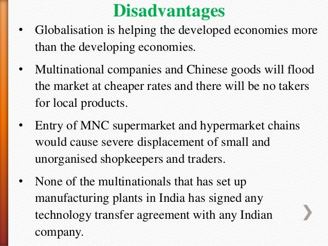 advantages and disadvantages of globalisation to nepal Here are six ways 'free trade' deals could be fixed to help share the benefits of globalisation more equitably published: 18 mar 2018  published:.