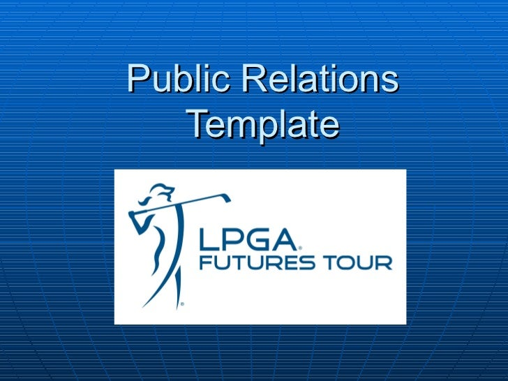 Public Relations Template
