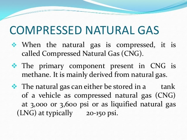 Definition For Compressed Natural Gas