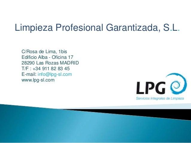 Servicios lpg for Oficina de correos las rozas
