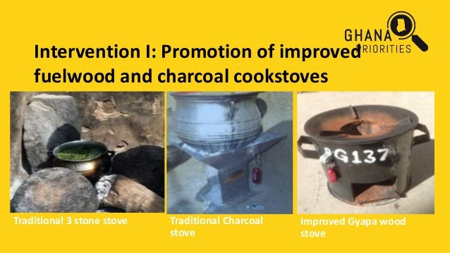 Intervention I: Promotion of improved fuelwood and charcoal cookstoves Traditional 3 stone stove Traditional Charcoal stov...