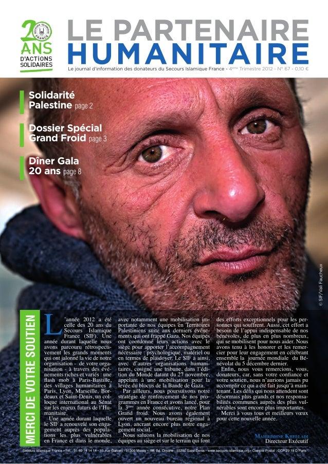 Le Partenaire Humanitaire n°67 2012 - 4eme-trismestre