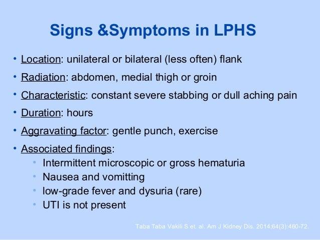 Loin Pain Hematuria Syndrome