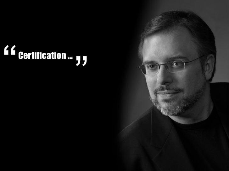 Certification …