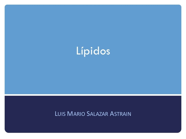 LípidosLUIS MARIO SALAZAR ASTRAIN