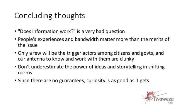 Does information work? Presentation by Rakesh Rajani