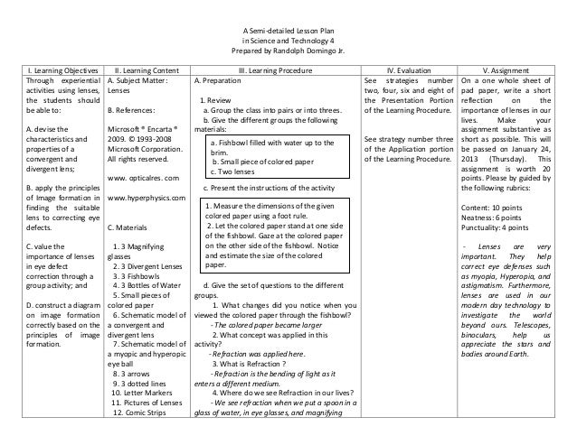 A Semi-detailed Lesson Plan                                                                  in Science and Technology 4  ...