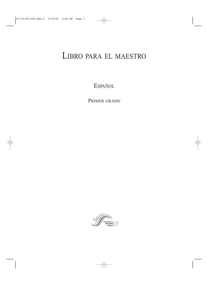 E/1/P-001-002.QX4.0   3/19/04   3:48 PM   Page 1                                LIBRO PARA EL MAESTRO                     ...
