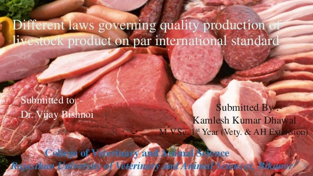Production product other livestock products