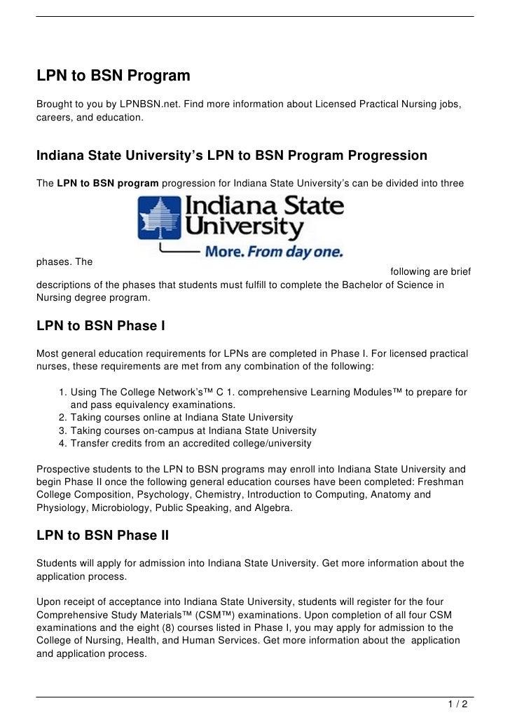 LPN to BSN Program