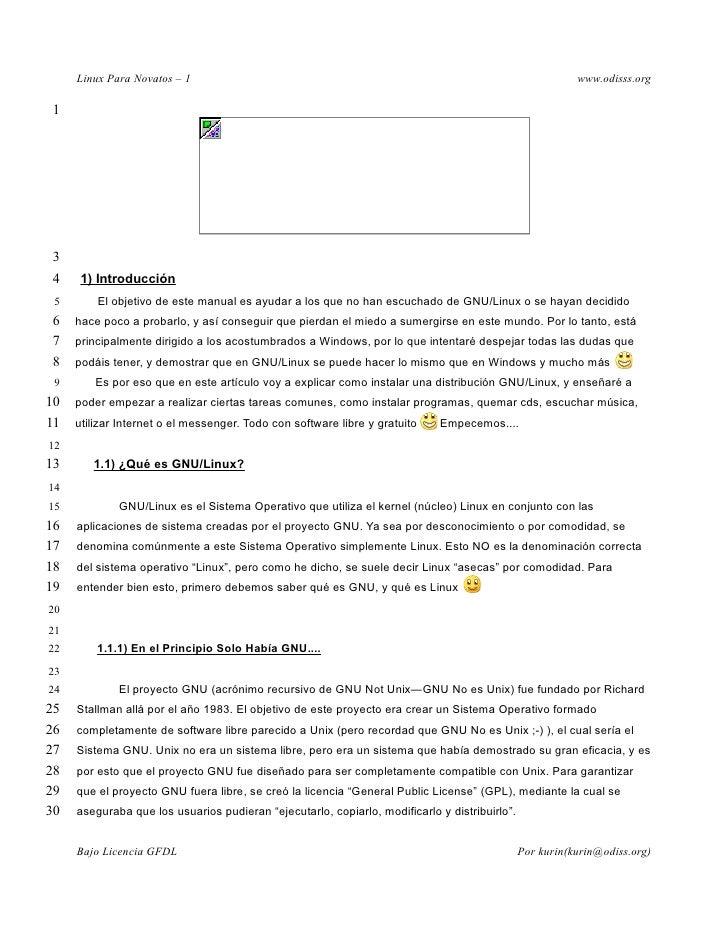 Linux Para Novatos – 1                                                                               www.odisss.org   1   ...