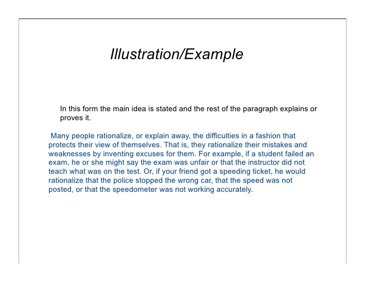 Writing an illustration essay