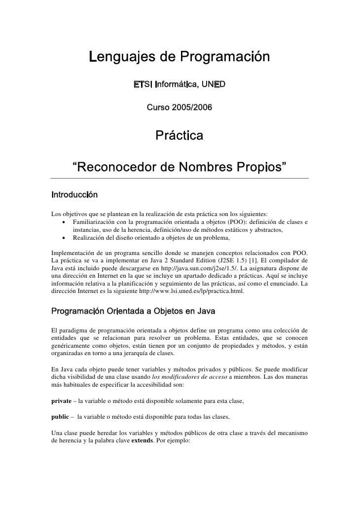 Lenguajes de Programación                               ETSI Informática, UNED                                    Curso 20...