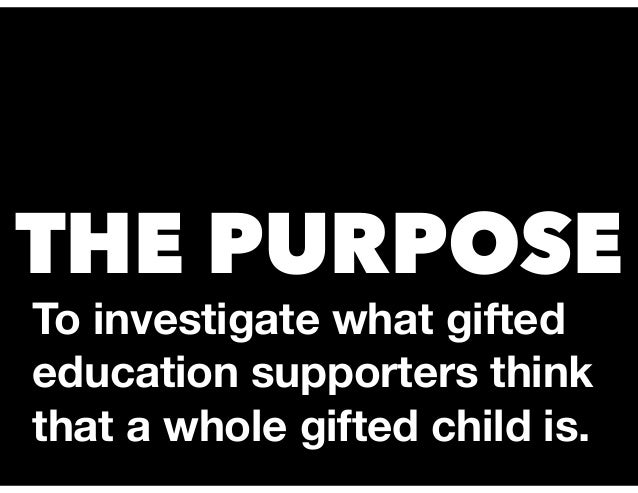 Whole Gifted Child Crowdsourcing Report NAGC 2017 Slide 2