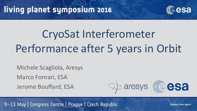 CryoSat Interferometer Performance after 5 years in Orbit Michele Scagliola, Aresys Marco Fornari, ESA Jerome Bouffard, ESA