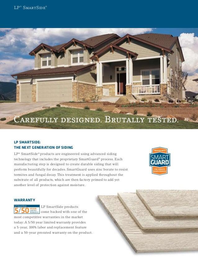 LP SmartSide Durability Brochure Slide 3